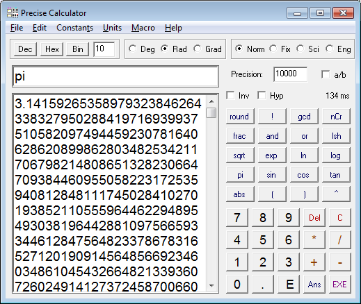 Precise Calculator Screen shot